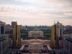 Blick auf den Präsidenten-Palast von oben