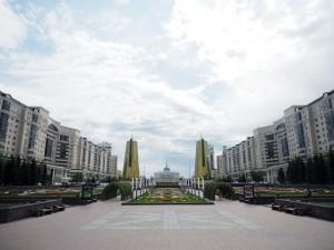 Blick auf den Präsidenten-Palast