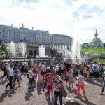 Peterhof - viele Menschen
